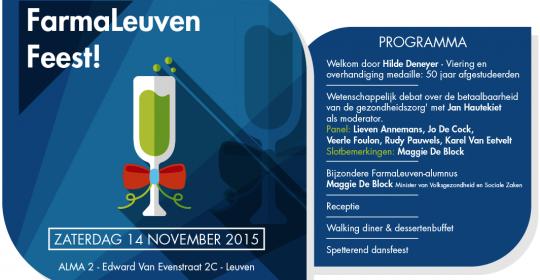 FarmaLeuven Feest! 14 november 2015